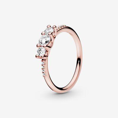 anello pandora con fiore rosa