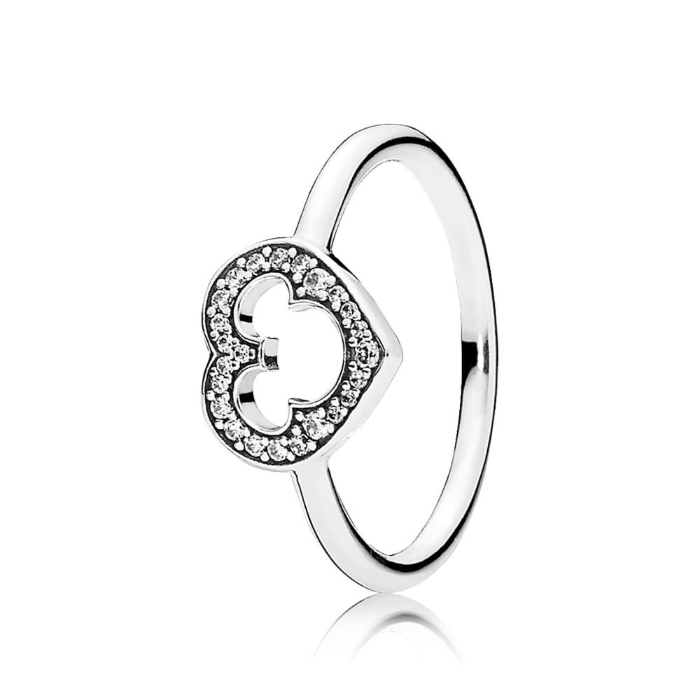 95514e523 Disney, Mickey Silhouette Ring, Clear CZ