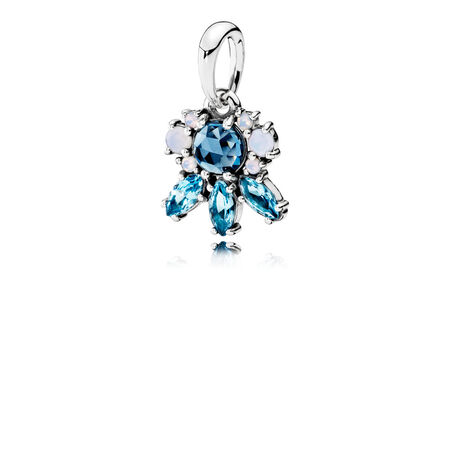 Patterns of Frost Pendant, Multi-Colored Crystal, Sterling silver, Blue, Crystal - PANDORA - #390391NMBMX