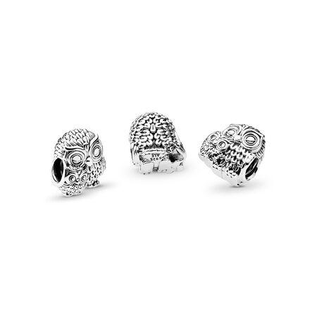 018e61ba0 Charming Owls Charm, Sterling silver - PANDORA - #791966