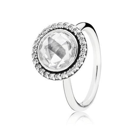 Brilliant Legacy Ring, Clear CZ