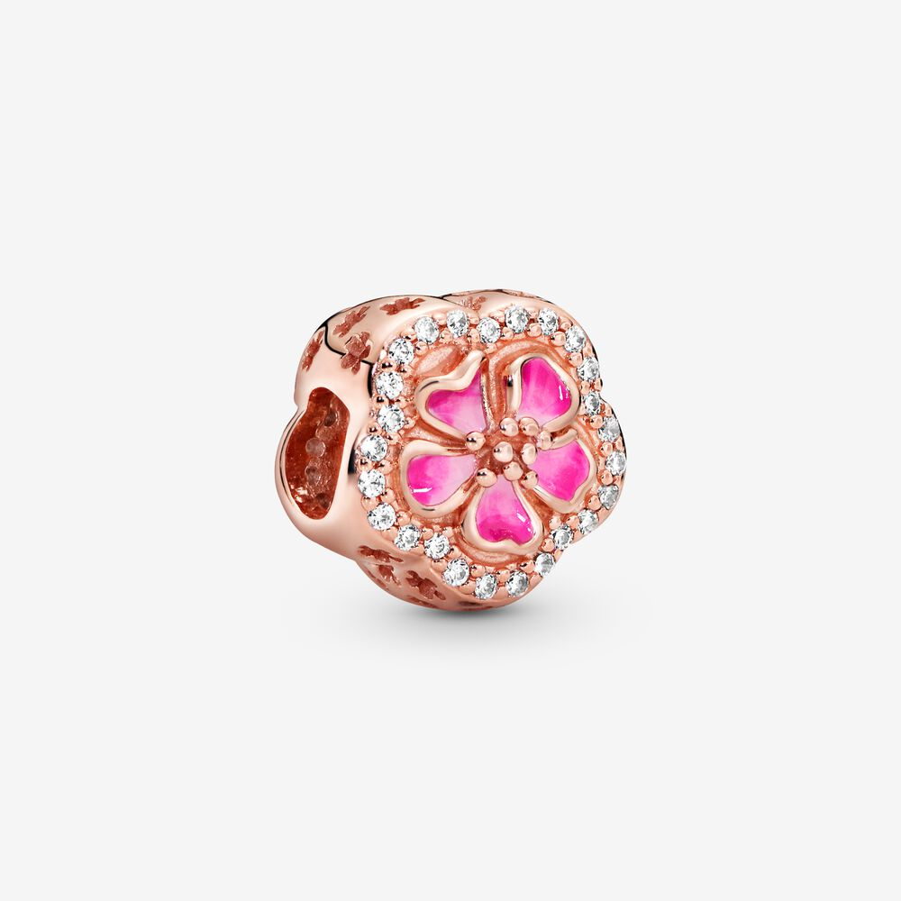 charms rose pandora