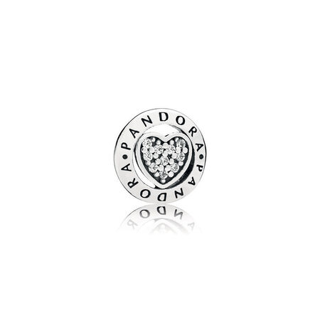 PANDORA Signature Heart Petite Locket Charm
