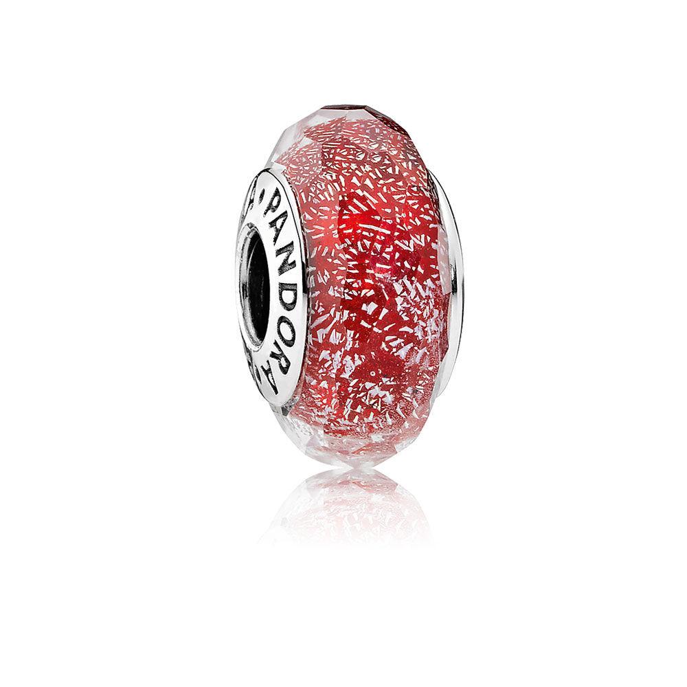 Red Shimmer Charm Murano Glass Pandora Jewelry Us