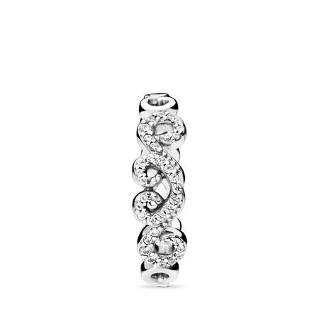 a30c00836 Heart Swirls Ring, Clear CZ, Sterling silver, Cubic Zirconia - PANDORA - #