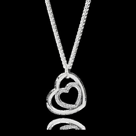 Heart to heart pendant necklace clear cz pandora jewelry us heart to heart pendant necklace clear cz aloadofball Gallery