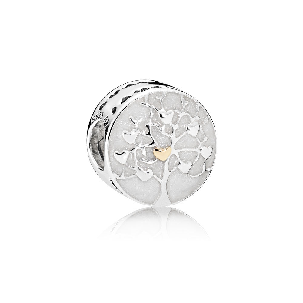 Tree Of Hearts Charm Silver Enamel Pandora Jewelry Us
