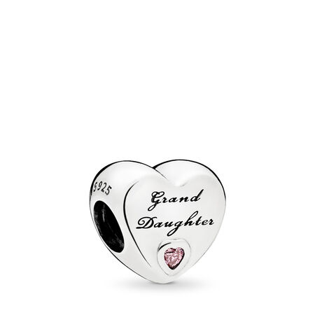 Granddaughter's Love Charm, Pink CZ