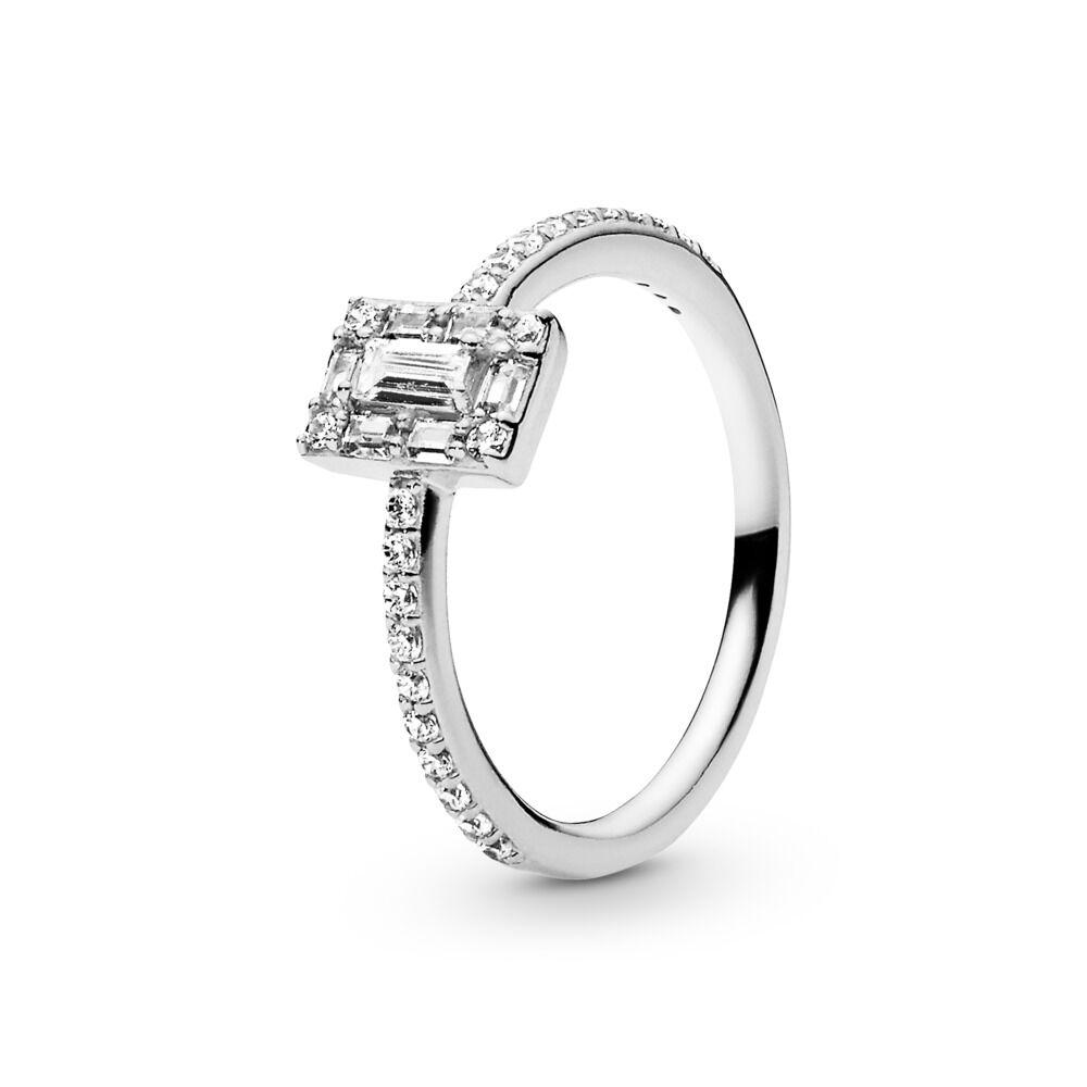 edb4b809e Luminous Ice Ring, Clear CZ, Sterling silver, Cubic Zirconia - PANDORA - #