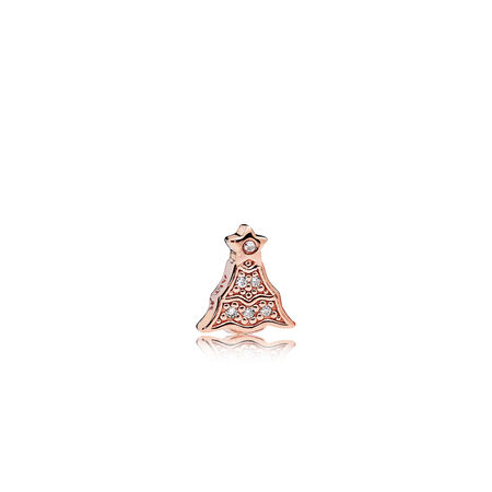 Twinkling Christmas Tree Petite Locket Charm, PANDORA Rose™ & Clear CZ