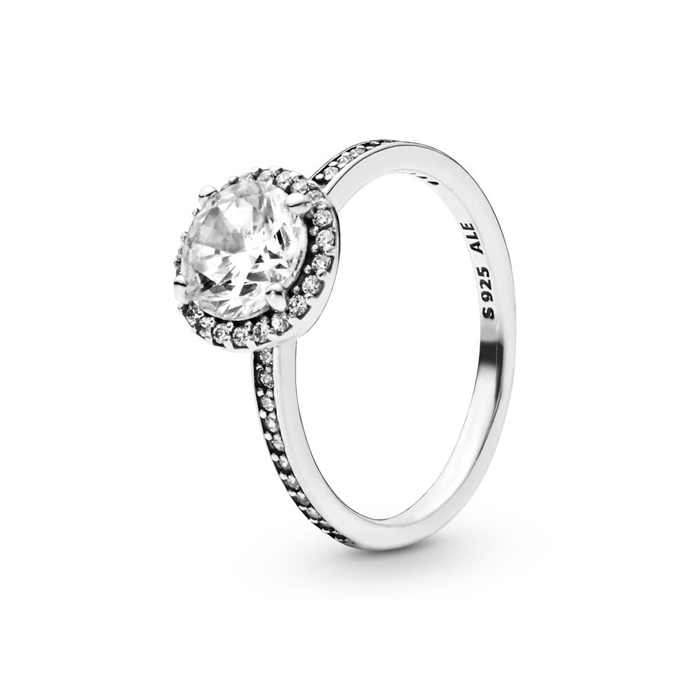 60ea2be6b Round Sparkle Ring, Sterling silver, Cubic Zirconia - PANDORA - #196250CZ