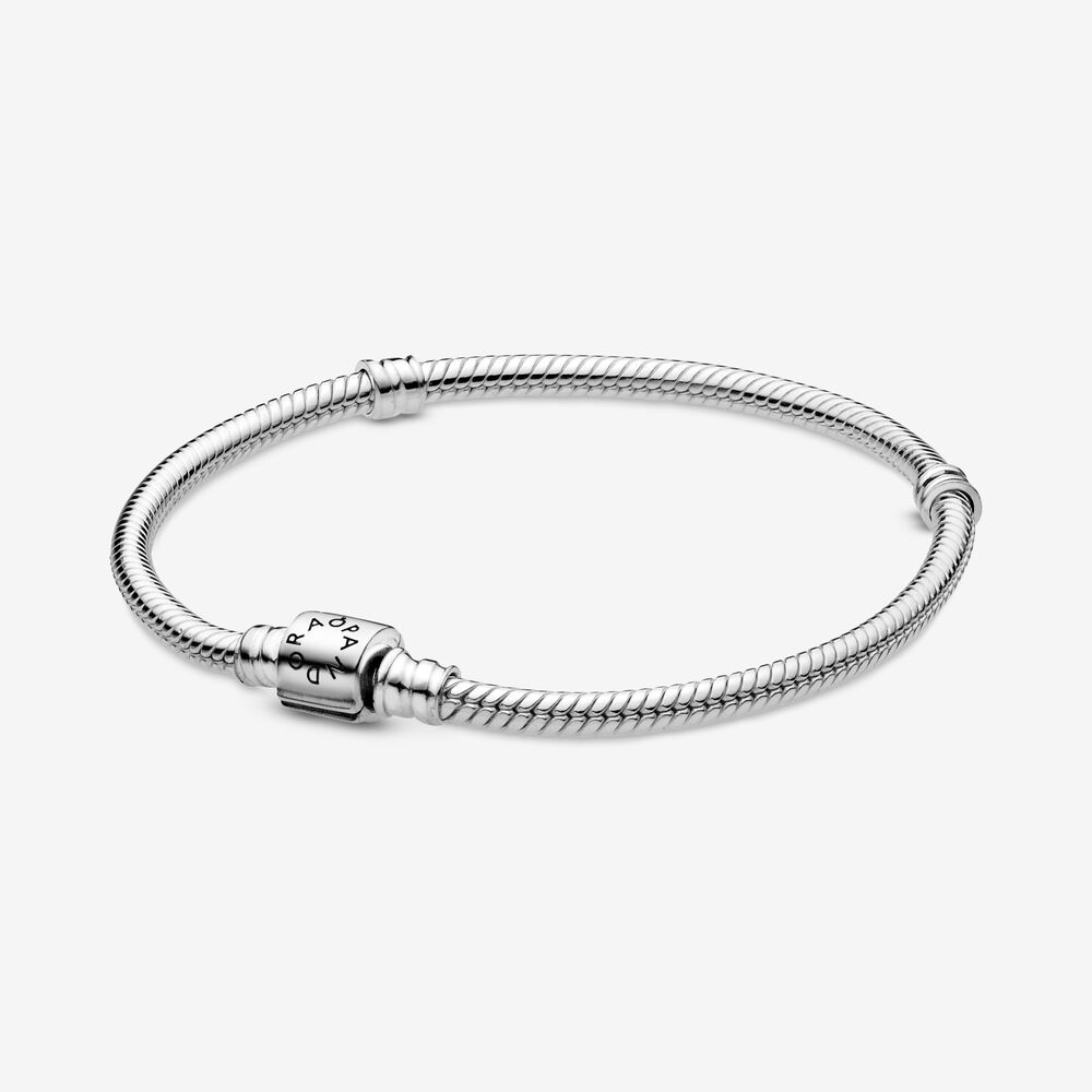 Pandora Moments Barrel Clasp Snake Chain Bracelet | Sterling ...
