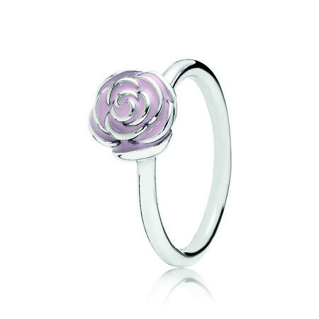Rose Garden Ring, Pink Enamel
