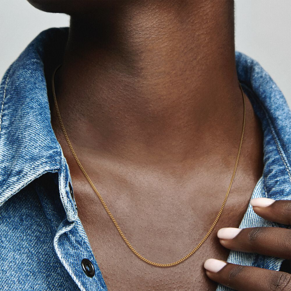 Curb Chain Necklace | Gold plated | Pandora US
