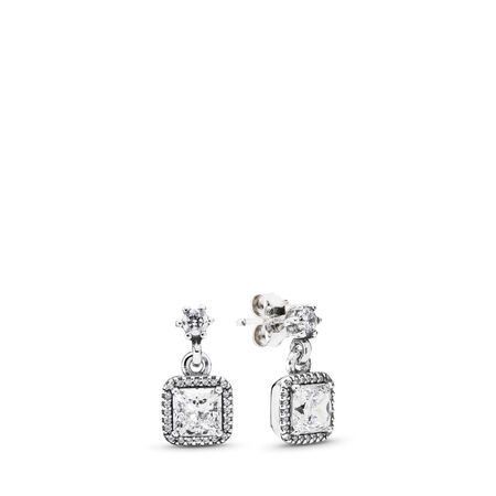 f65afe848 Timeless Elegance Drop Earrings, Clear CZ Sterling silver, Cubic Zirconia