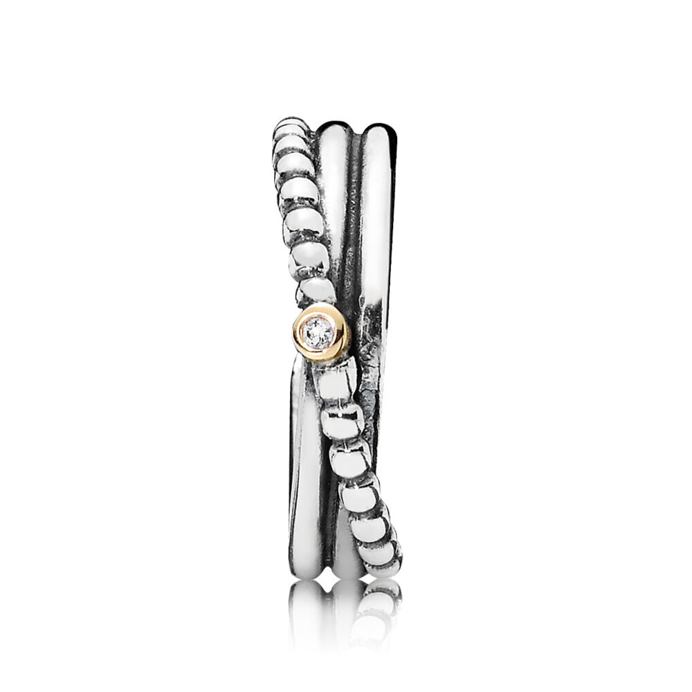 6c7b1003d Rising Star Ring, Diamond, Two Tone, Diamond h/vs - PANDORA -