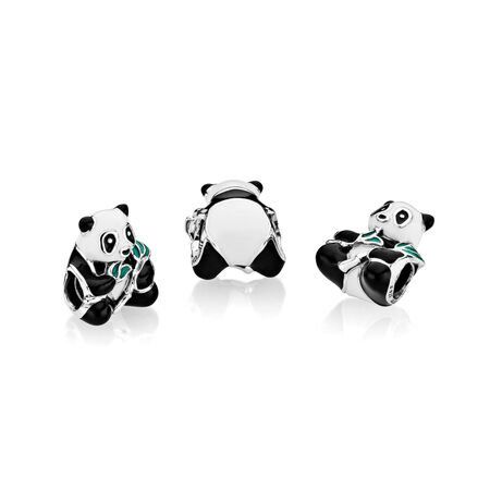 Sweet Panda Charm, Mixed-Enamel