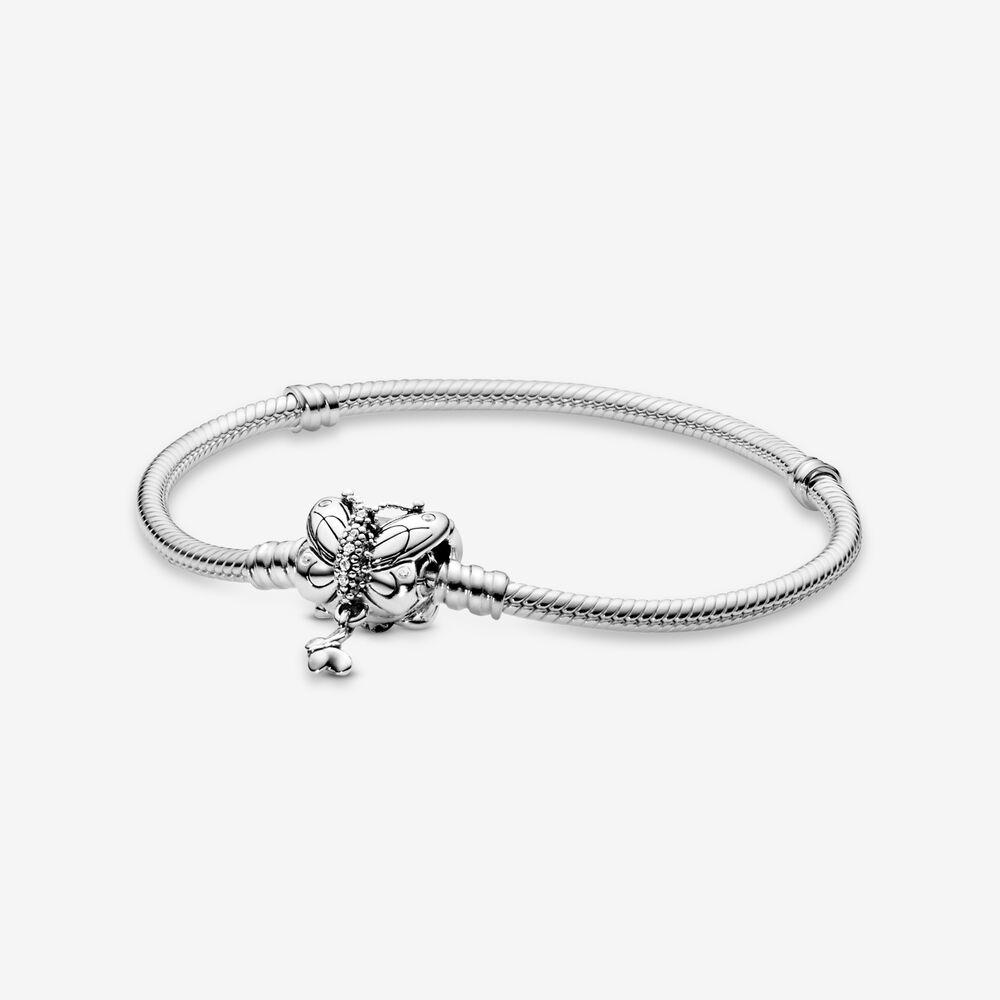 Pandora Moments Butterfly Clasp Snake Chain Bracelet