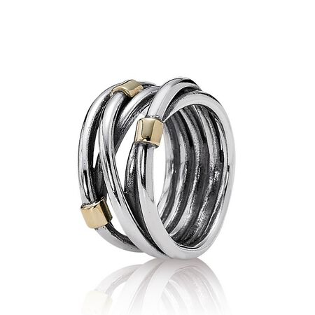 Silver Rope Bands Ring