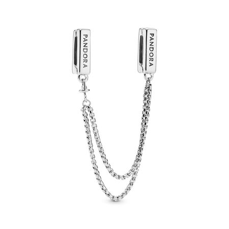 PANDORA Reflexions™ Floating Chains Safety Chain, Sterling silver, Silicone - PANDORA - #797601-05