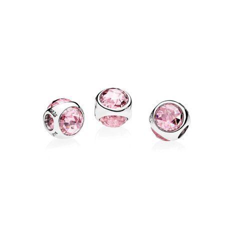Radiant Droplet Charm, Pink CZ