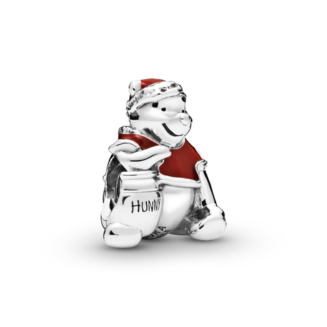 Disney Winnie the Pooh sterling silver charm with red enamel