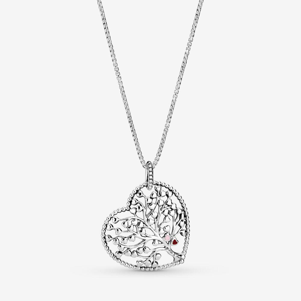 Family Tree Heart Pendant Necklace