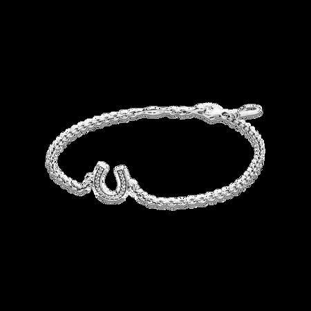 Symbol of Luck Bracelet, Clear CZ
