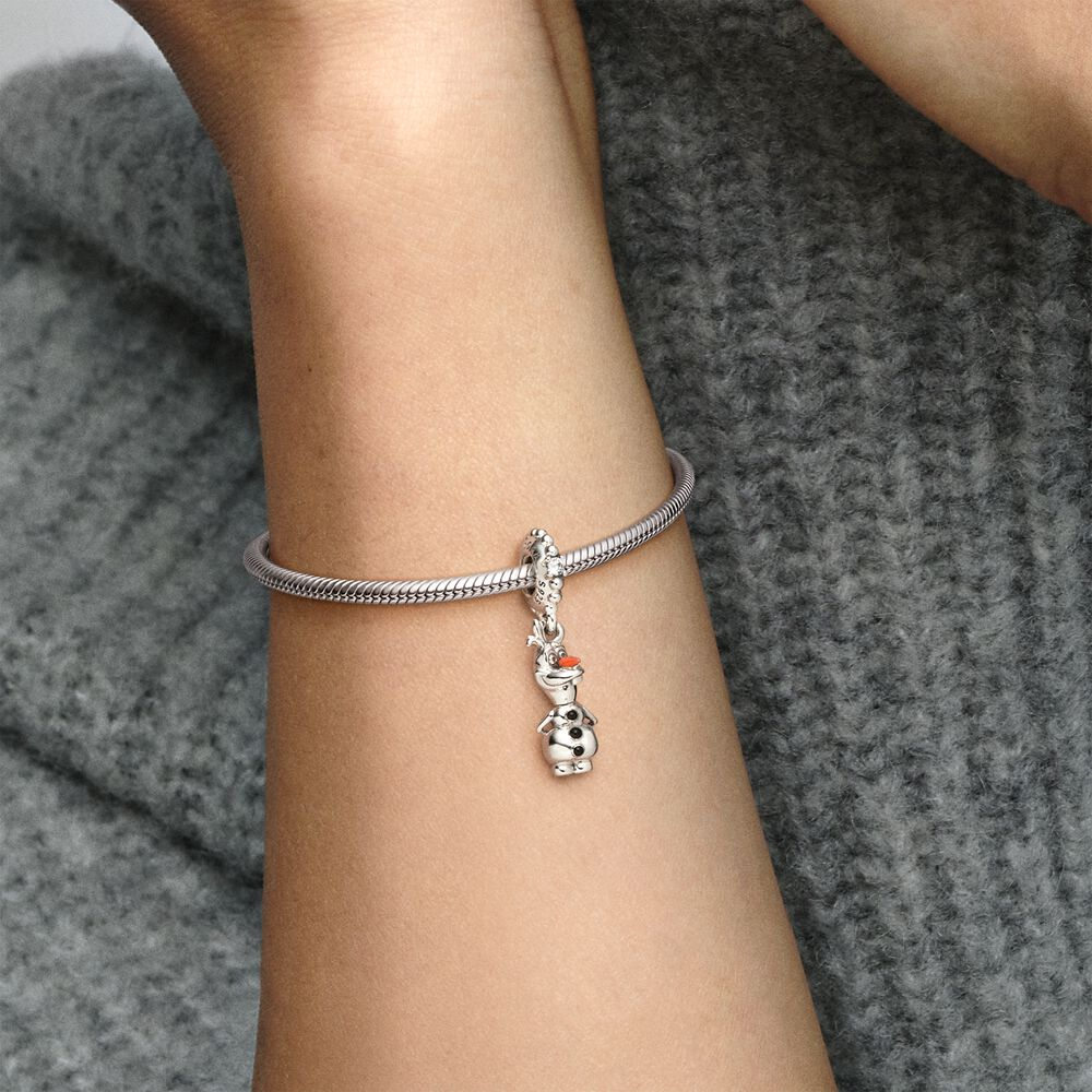 Disney Frozen Olaf Dangle Charm | Sterling silver | Pandora US
