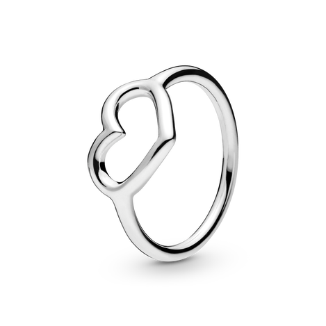 Polished Open Heart Ring
