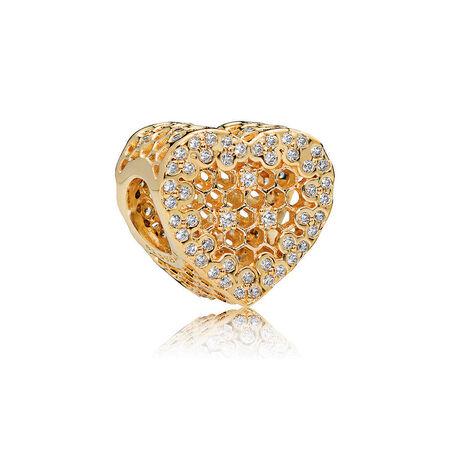 Honeycomb Lace Charm Pandora Shine Pandora Jewelry Us