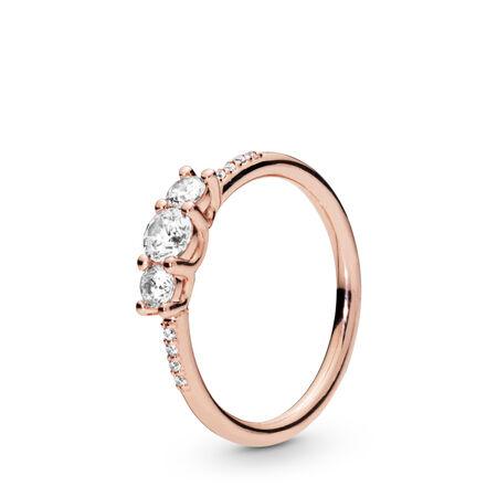 Sparkling Elegance Ring, Pandora Rose™, PANDORA Rose, Cubic Zirconia - PANDORA - #186242CZ