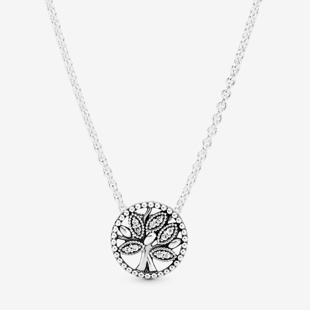 Sparkling Family Tree Necklace   Pandora US