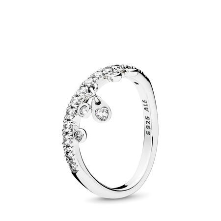 9c0a56928 Chandelier Droplets Ring, Clear CZ, Sterling silver, Cubic Zirconia -  PANDORA - #