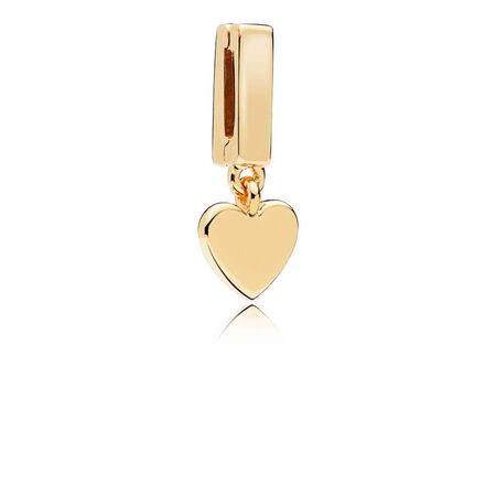 PANDORA Reflexions™ Floating Heart Clip Charm, PANDORA Shine™