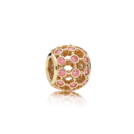In the Spotlight Openwork Charm, 14K Gold & Fancy Pink CZ