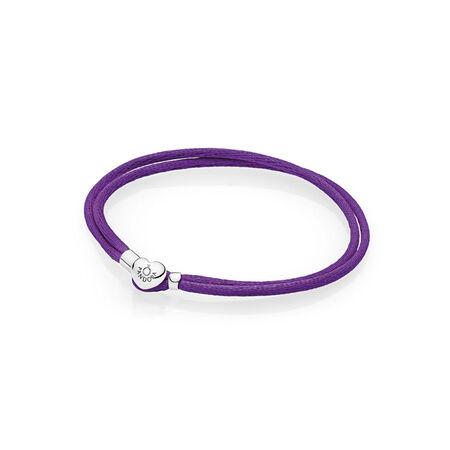 Fabric Cord Bracelet, Purple