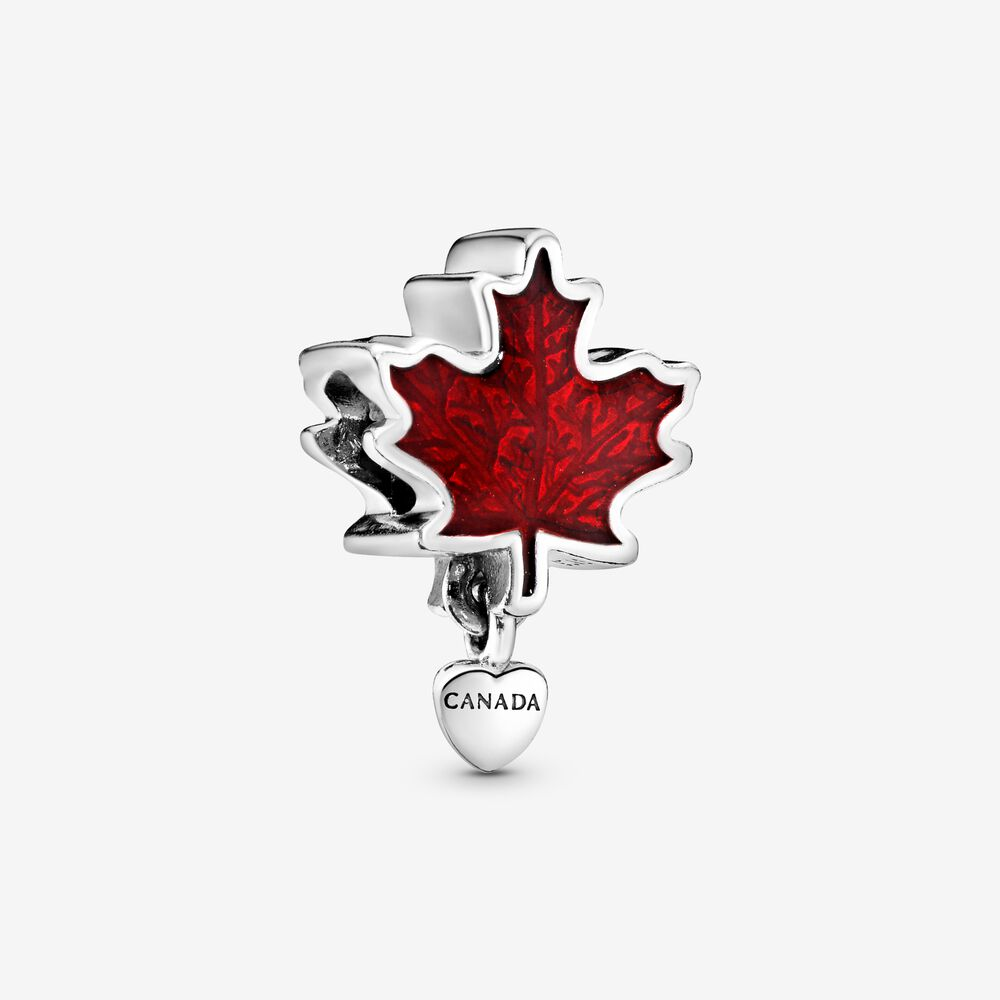 Canada Red Maple Leaf Charm - FINAL SALE | Sterling silver ...