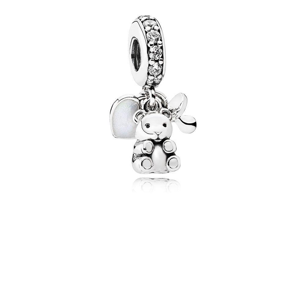 Pandora Women Silver Bead Charm - 792100CZ ZP3S9