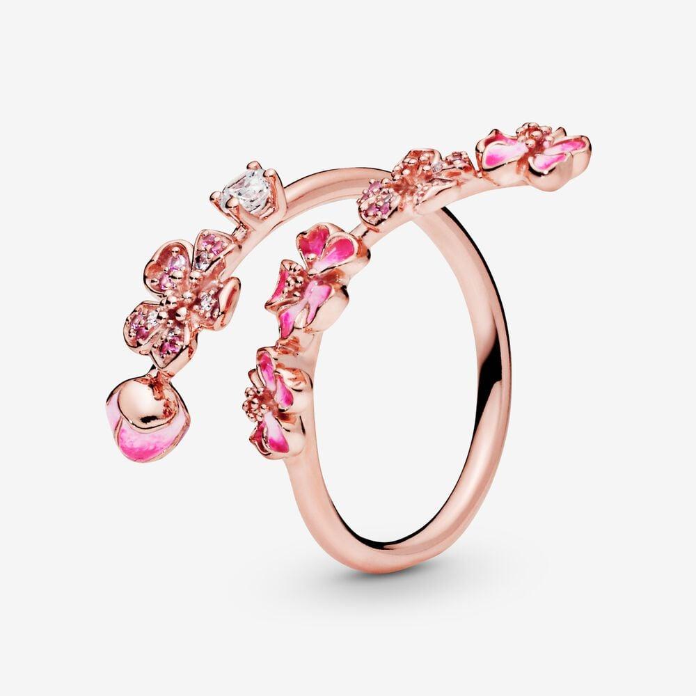 Peach Blossom Flower Branch Ring