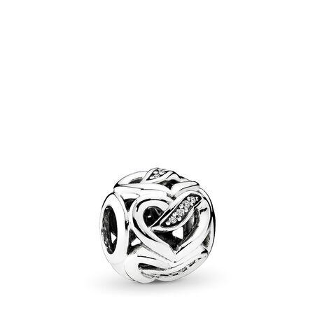 Dreams of Love Charm, Clear CZ, Sterling silver, Cubic Zirconia - PANDORA - #792046CZ