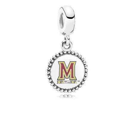 University of Maryland Dangle Charm, Mixed Enamel