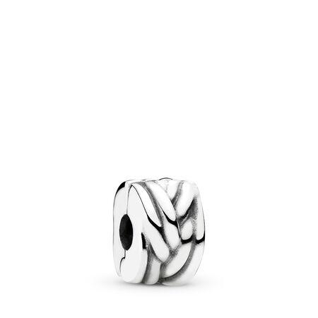 Braided Clip, Sterling silver - PANDORA - #791774