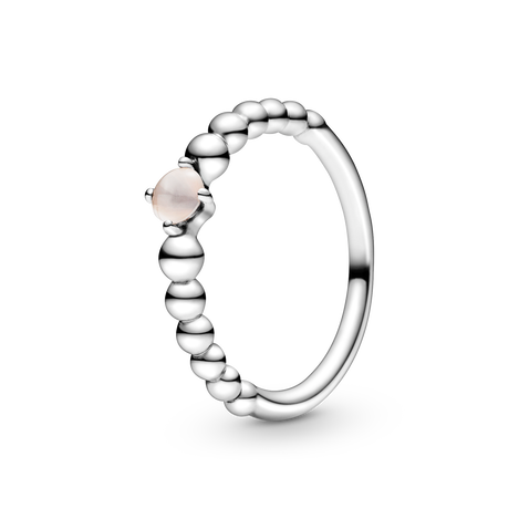 Misty Rose Beaded Ring