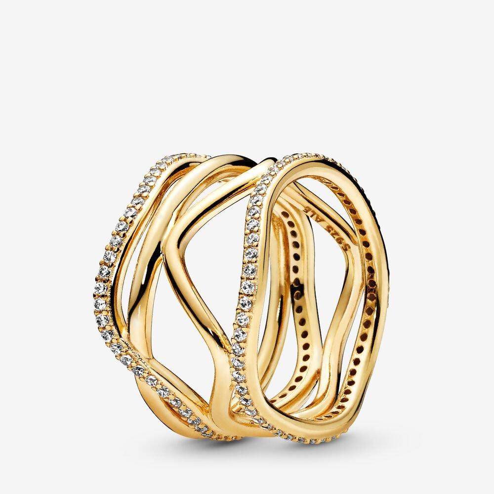 Swirling Lines Ring