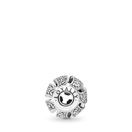 LOYALTY Charm, Clear CZ