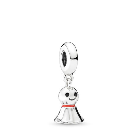 Asian Sunny Doll Dangle Charm, Sterling silver, Enamel, Black - PANDORA - #792113ENMX