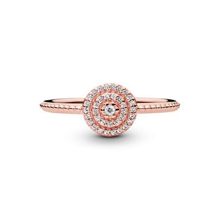 Radiant Elegance Ring, PANDORA Rose™ & Clear CZ