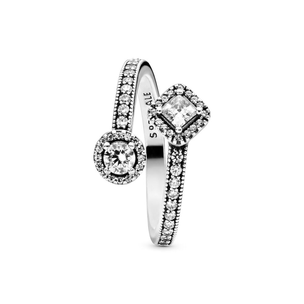 7ccd8653ea5fa Abstract Elegance Ring with Cubic Zirconia