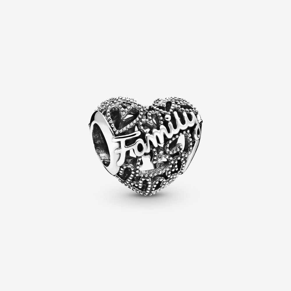 Family Heart Charm | Sterling silver | Pandora US
